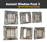 3d ancient window pack 3