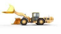 3d underground loader heavy vehicle model