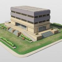 campus academy 3d model