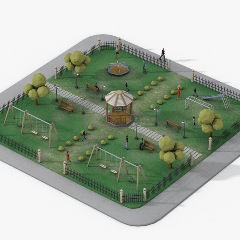 urban park obj