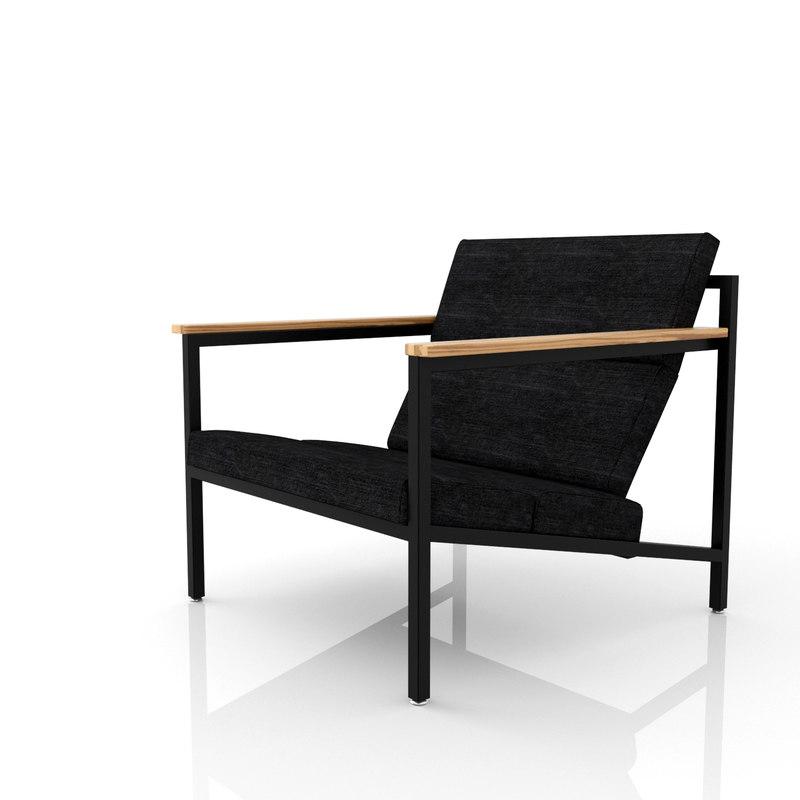 3d halifax chair gus modern model