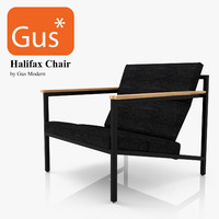 3d halifax chair gus modern model