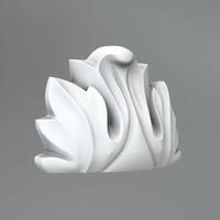 3d classical decoration ornamental model