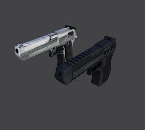 free desert eagle pistol 3d model