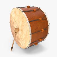 turkish drum 3d model