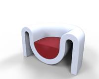 3d futuristic sofa model