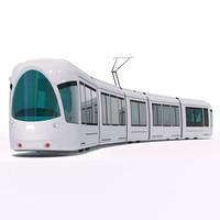 3d model city tram