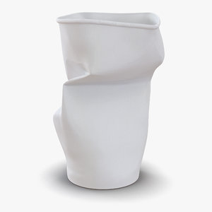 crumpled drink cup 2 c4d