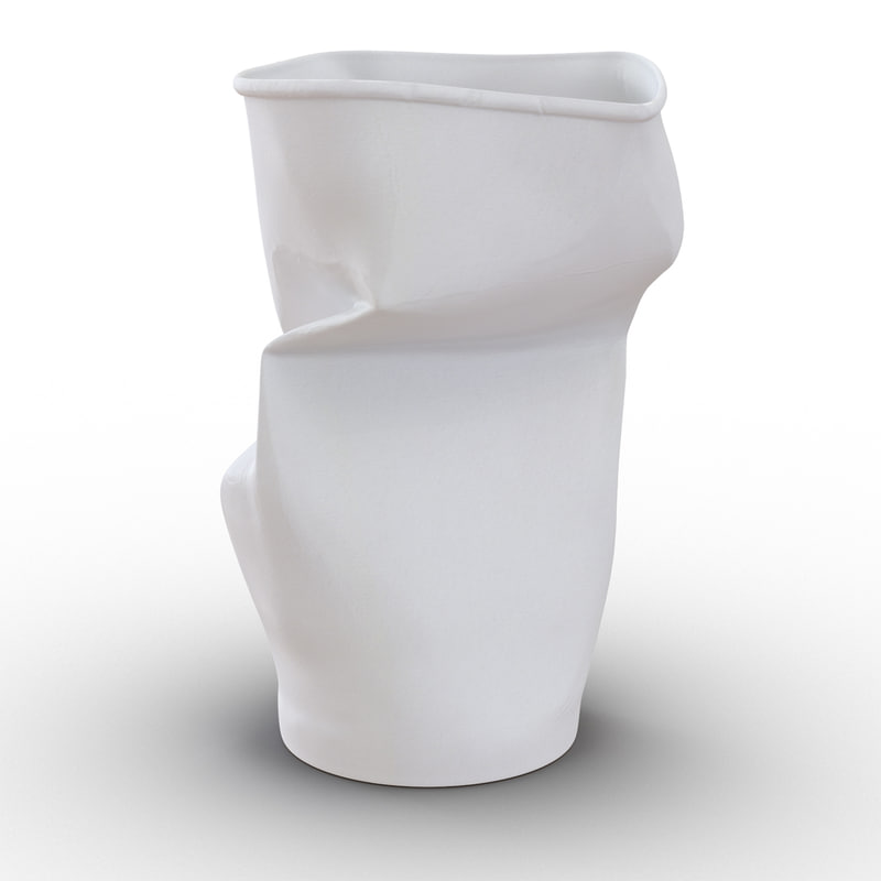 crumpled drink cup 2 c4d