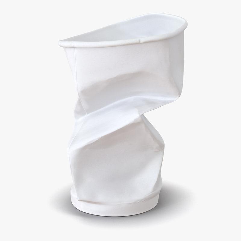 3d model crumpled drink cup