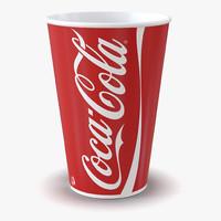 3d drink cup coca cola