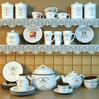 3d tableware country kitchen