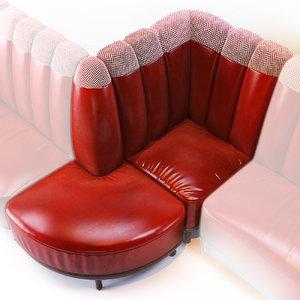 holborn dining lounge sofa 3d obj