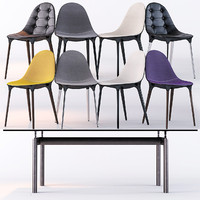 Cassina Caprice Chairs/LC6 Table