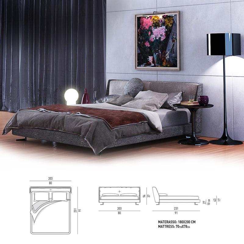 tables lamps pillows 3d model