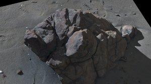 scanned shore rock 3d model