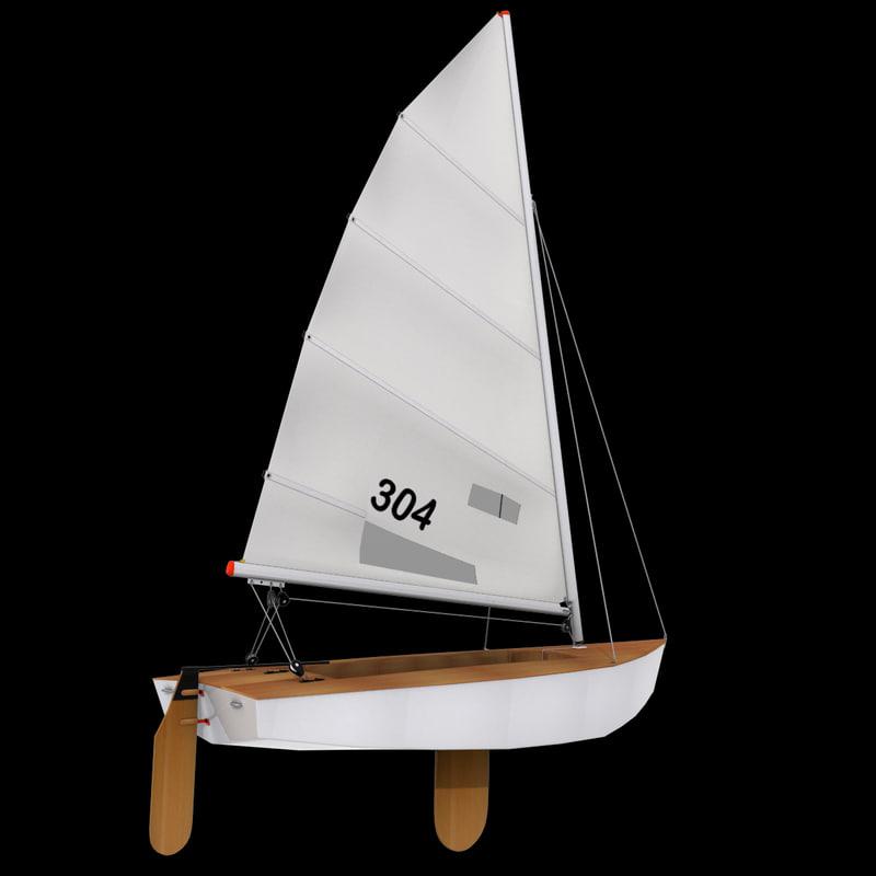 sailboat boat sail 3ds