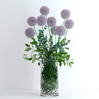 Alliums, eucalyptus, lemon branches and palm leaf