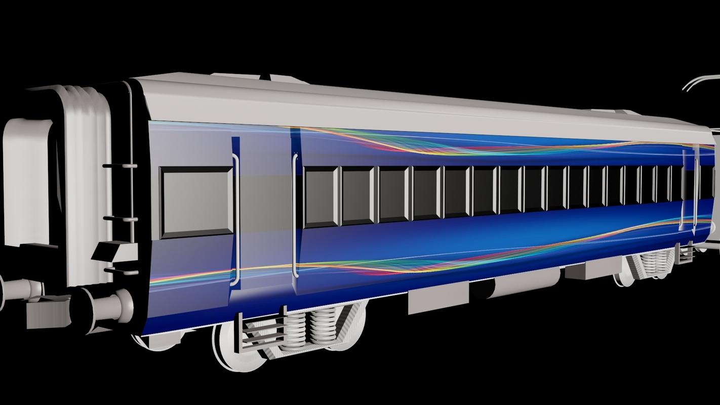 speed train 3d obj