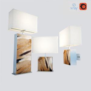 3d model freya lamp