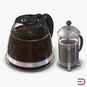 Coffee Pots 3D Models Collection
