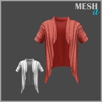 male cardigan 3ds