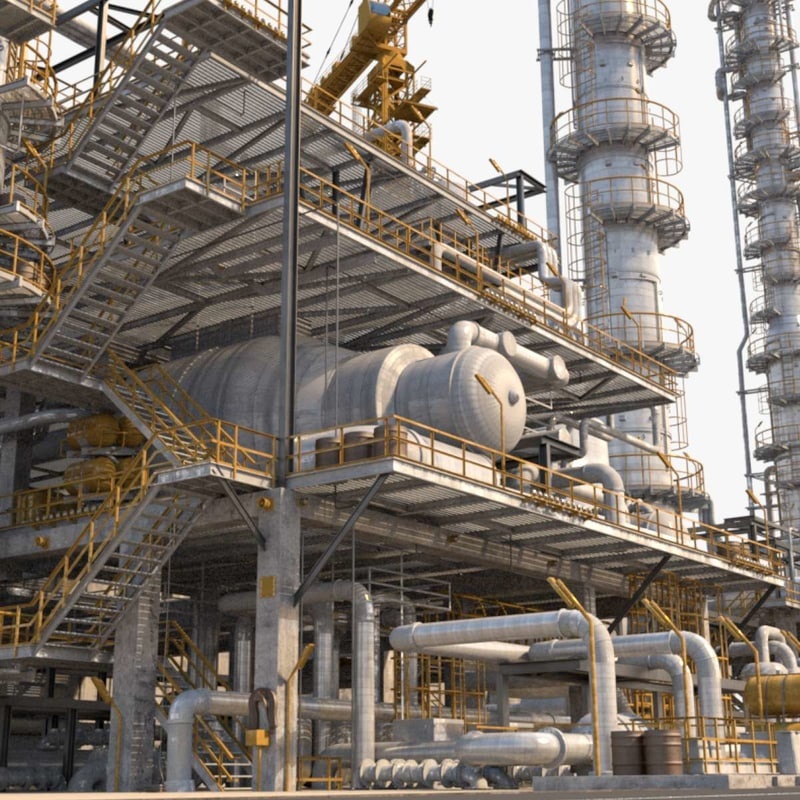 3d refinery arnold model
