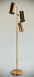 lowy brass light floor lamp max
