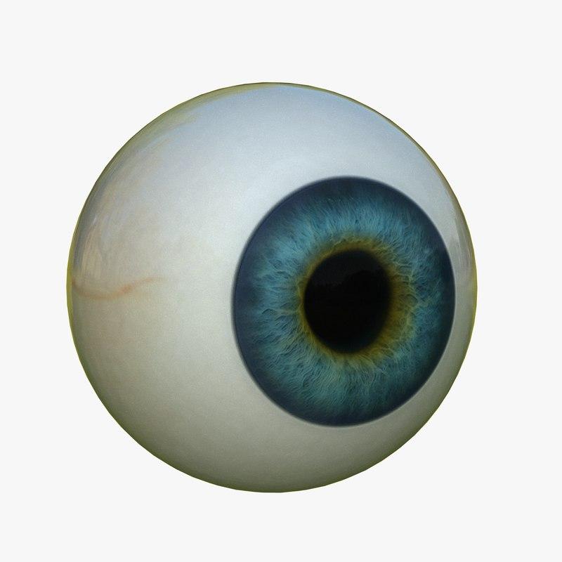 3d model simple eye ball