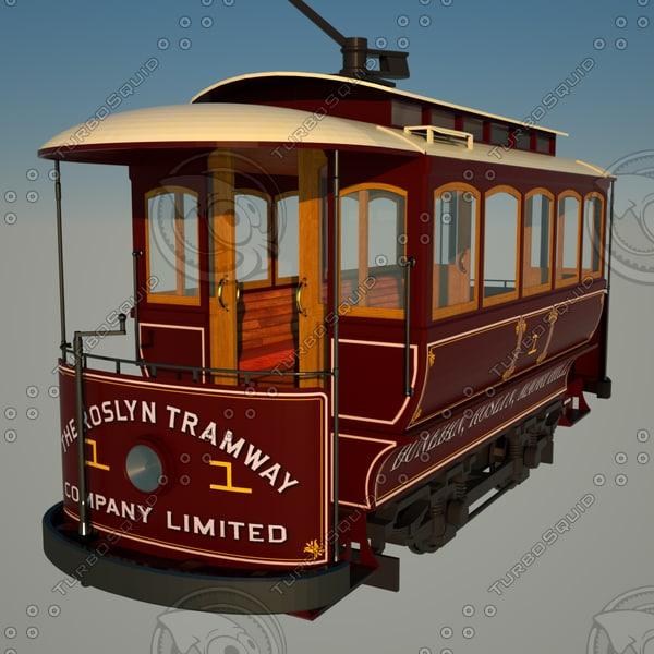 dunedin historic tram 3d model