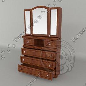 mirror shelves 3d max