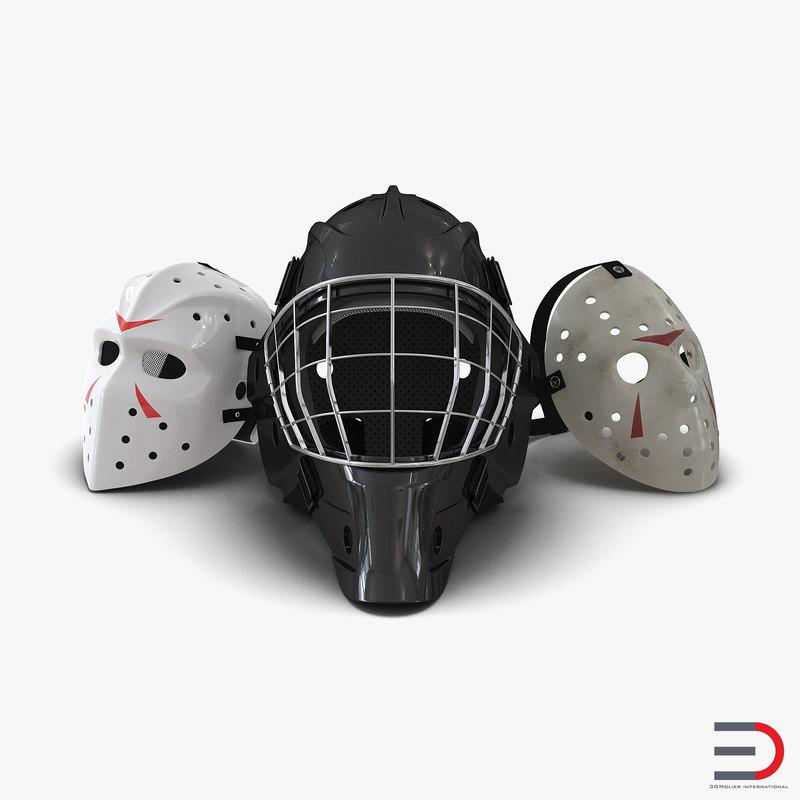 3d hockey masks 2 model