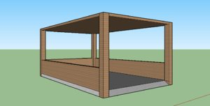 3d model car port carport