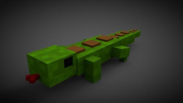3d lizard minecraft