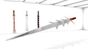 3d sword model