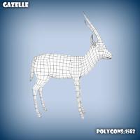 3d model base mesh s gazelle