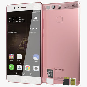 realistic huawei p9 rose 3d 3ds