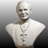 sculpture john paul great 3d model