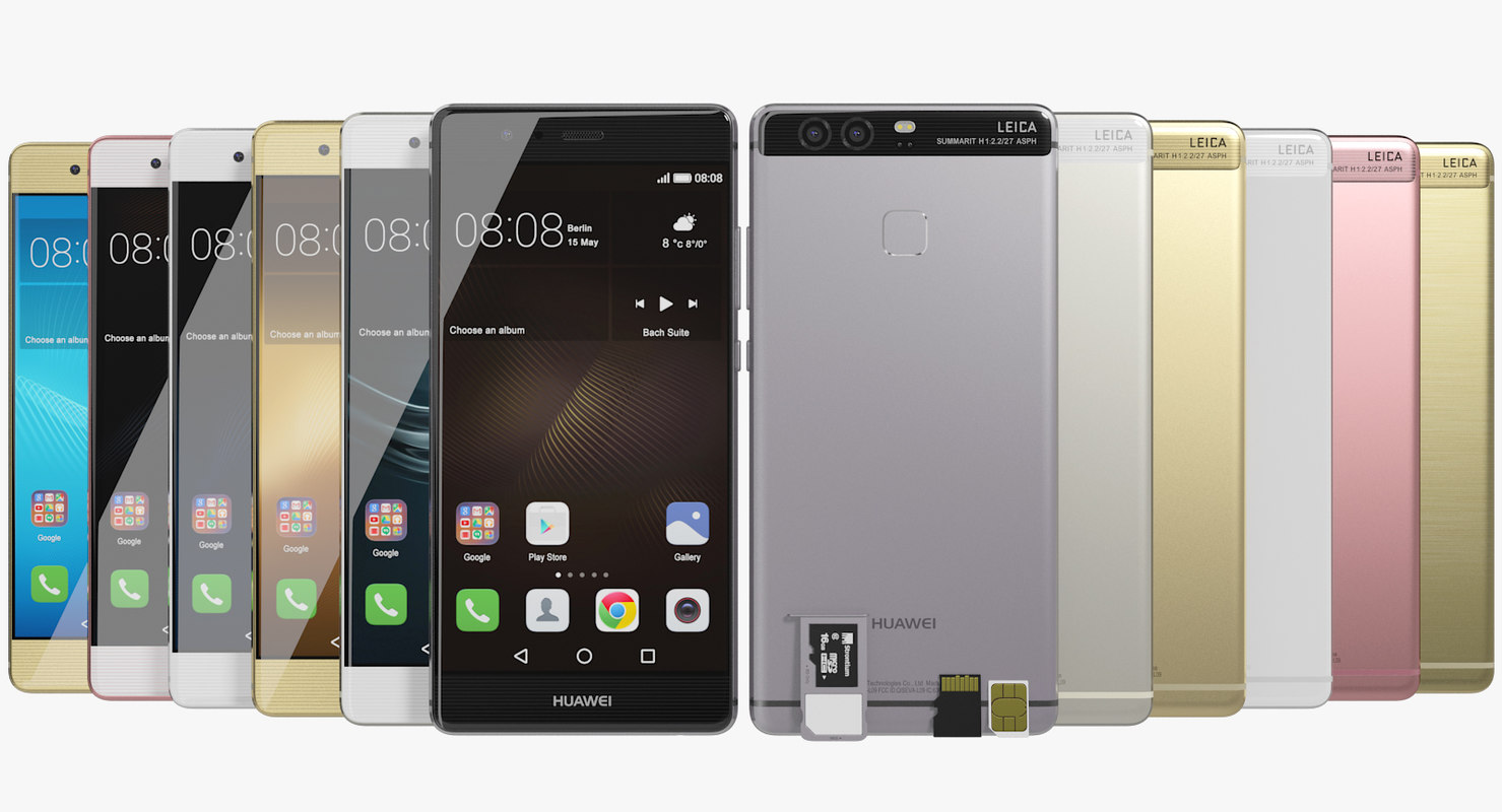 realistic huawei p9 colors 3ds