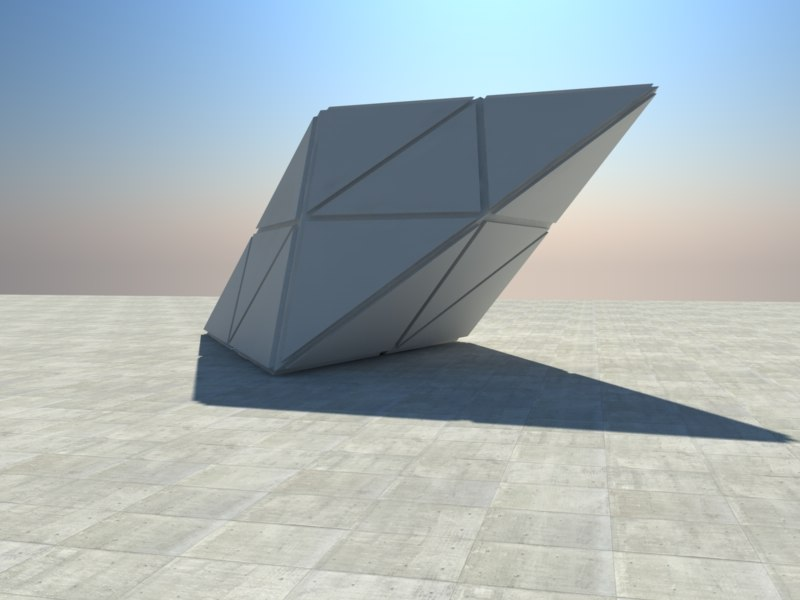 triangle cube 3ds