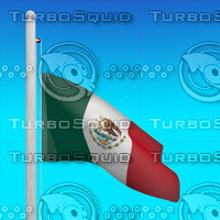 3d flag mexico - loop model