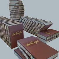materials books set 3d model