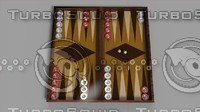 backgammon 3dbackgammon obj