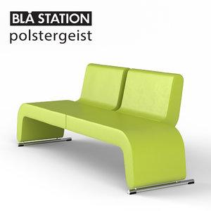 3d polstergeist sofa model