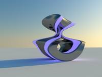 3d modern sculpture