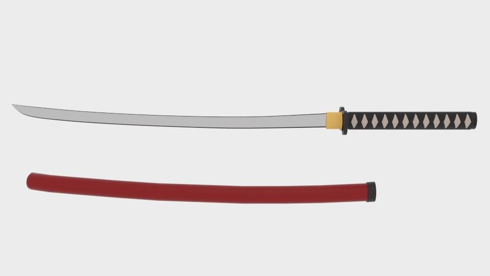 3d model samuray sword
