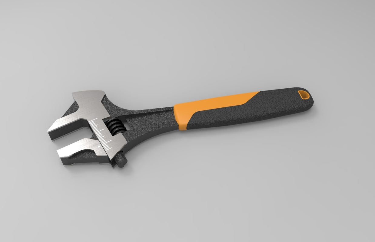 3d adjustable wrench