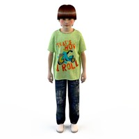 fashion clothing children baby s 3d model