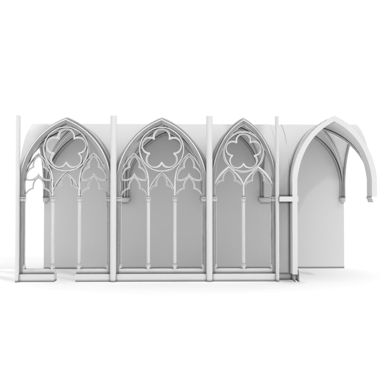 3d model gothic wall