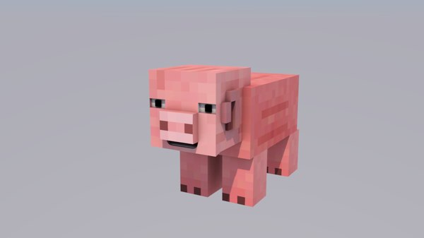 3ds rigged pig